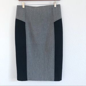 Express Gray and black pencil skirt